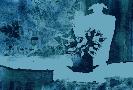 Барановская Ю. «Натюрморт с кактусом». Батик, 31х21, 2001 г.