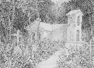 Емельянова А. «Кладбище». Бумага, карандаш, 40х31, 1997 г.
