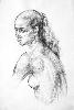 Седеневская С. Женская голова. Бумага, карандаш, 2006 г.