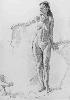 Юрьев С. Обнаженная женская фигура. Бумага, карандаш, 86х59, 1999 г.