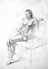 Войшель А. Сидящая обнаженная женская фигура. Бумага, карандаш, 60х80, 2006 г.
