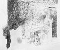 Рачицкий Д. Сидящая женская одетая фигура. Бумага, карандаш, 1999 г.