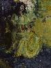 Очковская И. Сидящая женская одетая фигура. Холст, масло, 64х80, 2005 г.