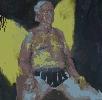 Очковская И. Этюд мужской обнаженной фигуры. Картон, масло, 48х48, 2005 г.