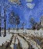 Сулима О. «Зимний пейзаж». Холст, масло, 103х83, 2001 г. (рук. Дулуб А.И.)