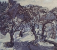 Лоечко Е. «Заброшенный сад». Холст, масло, 78х69, 1999 г. (рук. Дулуб А.И.)