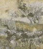 Гук А. Лист из серии «Сад». Бумага, смешанная техника, 45х38, 2001 г. (рук. Лещинский А.А.)